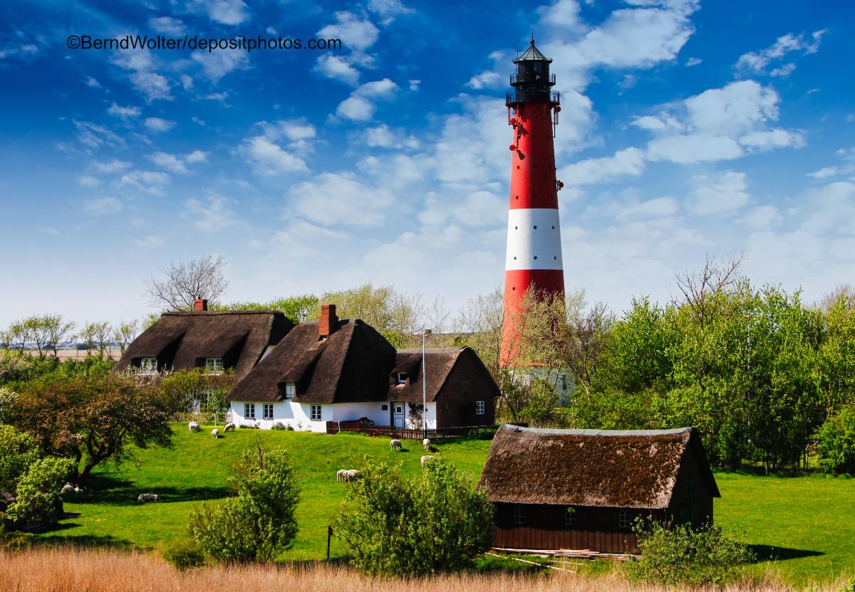 Leuchtturm auf der Insel Pellworm