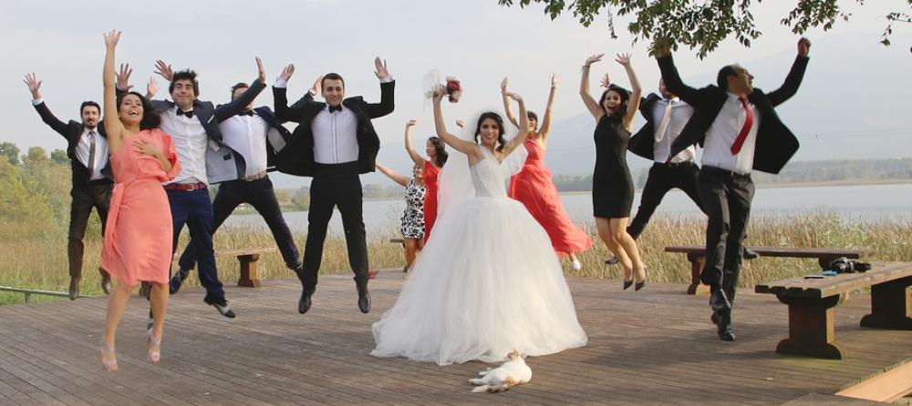 Gäste Hochzeitsfeier